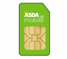 ASDA MOBILE PAYG TRIPLE 3 IN 1 SIM CARD 8p CALLS 4p TEXT UP TO 12GB DATA !