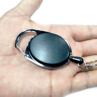 Metal Retractable Key Chain Card Badge Holder Steel Recoil Ring Pull Belt Clip Y