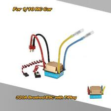 Waterproof 320A Brushed ESC Speed Controller w/5V/3A BECfor 1/10 RC Car HOT L1M4