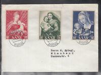 SAAR THE SAARLAND of beautiful Cover FDC 1954 - Marian year