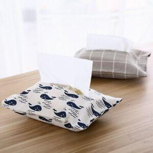 Napkin Boxes Neu Baumwoll-Leinen-Papierhalter Zuhause Servietten-Taschentuchbox