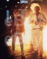 Back To The Future (1985) Michael J Fox, Christopher Lloyd 10x8 Photo