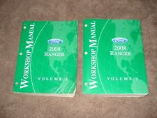 2008 FORD RANGER SHOP MANUAL SET SERVICE BOOKS ORIGINAL SET RANGER TRUCK