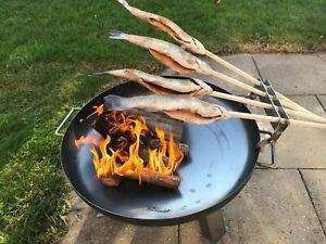 sehr stabiler MULTI HALTER LEO 6mm Steckerlfisch Flammlachs Feuerschale Grill