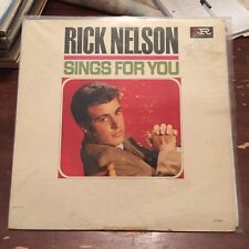 Rick Nelson Sings For You Imperial LP-9251 Vinyl Record