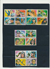 Heroes of Aviation Equitorial Guinea cplySet of 16 (4 se-tenant Blocks of 4) CTO