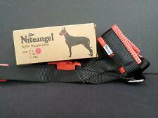 DOG Muzzle Loop Large Red & Black Nylon Safety Training Restraint Niteangel