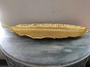 Michael Aram Leaf Gold Centerpiece