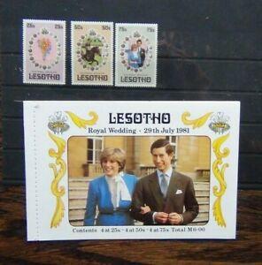 Lesotho 1981 Royal Wedding set & Booklet MNH