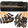 32pcs Pro Soft Cosmetic Eyeshadow Lip Powder Makeup Brush Tool Set Kit +Case Bag
