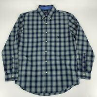 Chaps Ralph Lauren Mens Long Sleeve Button Down Shirt SIze M Plaid Easy Care