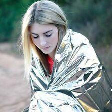 Emergency Thermal Blanket Outdoor WaterProof Foil Camping Rain,Wind,Heat Protect
