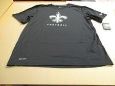 New Orleans Saints Logo Elite NFL Nike Dri Fit T-Shirt Black NEW