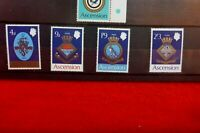 1969 Royal Navy Crests Ascension MINT UNHINGED SET OF 4 STAMPS