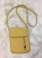 TIGNANELLO small cross body GENUINE PEBBLE leather Yellow shoulder bag purse
