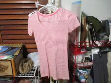 Women's Victoria's Secret pink striped PJ Top size XS-EUC-FREE SHIPPING