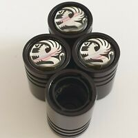 VAUXHALL Matte black valve Tyre Dust Caps Plastic Inside all models Non stick