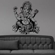 Wall Vinyl Room Sticker Decals Mural Ganesh Elephant Buddha Mandala Flower L138