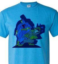 Blue Falcon T shirt Dynomut retro 80's Saturday morning cartoon heather blue tee