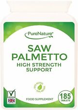Saw Palmetto 3000mg High Strength Superior Grade 185 Tablets