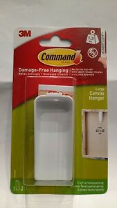 COMMAND CANVAS HANGER HOOK KIT WITH HANGING STRIPS LARGE