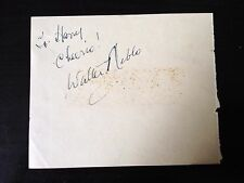 WALTER NIBLO - POPULAR MUSIC HALL COMEDIAN - SIGNED VINTAGE ALBUM PAGE
