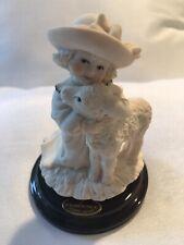 Giuseppe Armani Florence Little Lamb 1492 Figurine Little Girl Hat