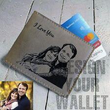 Personalized Mens wallet, custom photo wallet, groomsmen wallet, leather wallet