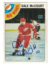 Dale McCourt 1978-79 OPC AUTOGRAPH HOCKEY CARD HAND SIGNED DETROIT RED WINGS