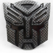 NEW JDM Carbon Fiber Transformers AUTOBOT Car Badge Emblem Sticker Trunk SIDE