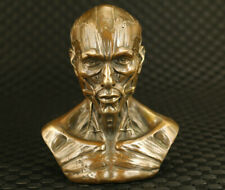 Big chinese bronze hand casting cool skull man statue figure Table decoration