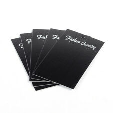 """100pcs Black Paper Earring Display Cards Hang Hole Jewelry Hanging Card 3.5""""x2"""""""