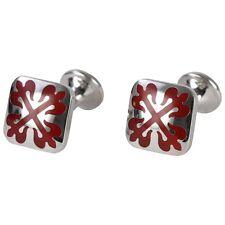PENROSE Di Stilista Londra Greenwich GEMELLI argento e rosso-Rrp £ 89 #CL 19
