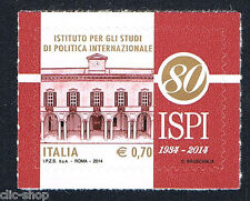 ITALIA 1 FRANCOBOLLO ISPI ISTITUTO PER GLI STUDI DI POLITICA INTER. 2014 nuovo**