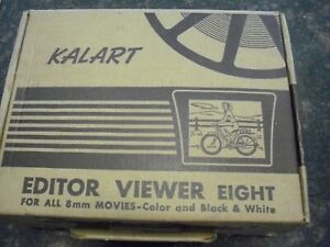 Vintage Kalart 8mm Film Editor and Viewer with Box