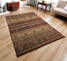 QUALITY Dark Red Beige Tribal Persian Oriental Design EASYCARE Rug Runner 30%OFF