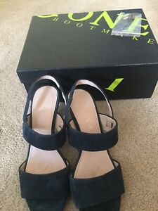 Navy Sandals with box. Jones Bootmaker Size 4. Cost £89 Worn once indoors