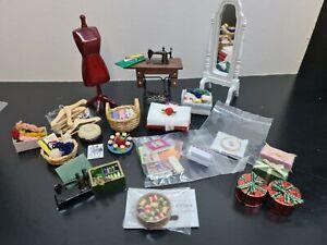 dolls house accessories job lot 24 haberdashery items 1.12th SA2