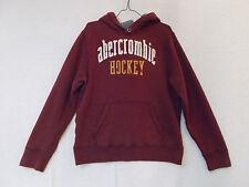 Abercrombie Hockey Heavyweight Hoodie, Red, Men's XL (02277)
