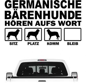 Germanischer Bärenhund Bär hört aufs Wort Hunde Auto Aufkleber Autoaufkleber Hun