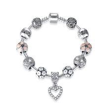 Pulseras de Mujer Charms Plata 925, Brazalete para Mujer Moda tipo Pandora #2389