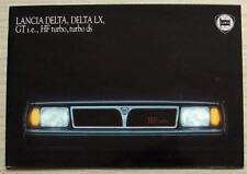 LANCIA DELTA & DELTA LX Sales Brochure 1987-88 #045962702 ITALIAN GTie HF TURBO