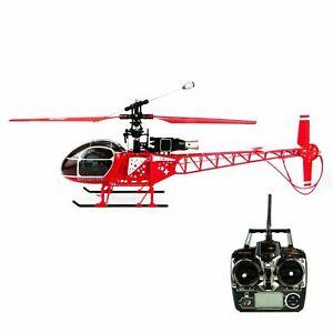 RC Hubschrauber LAMA Helikopter Ferngesteuert, 4 Kanal LCD Display, 2.4 GHz, Rot