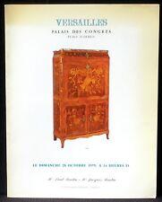 Catalogue Martin Versailles 28/10/79 Tableaux anciens, meubles, pendules... TBE
