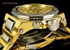 Invicta 52mm Akula Quartz Chronograph Gold Dial GoldTone Two Tone Bracelet Watch