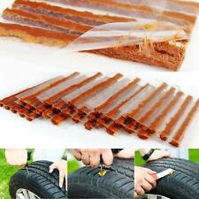 15x Tubeless Tire Puncture Quick Repair Seal Rubber Strip Kit For Car Motorcycle