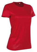 T-shirt, maglie e camicie da donna rosso in poliestere con girocollo