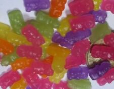 Dollhouse Miniature : 20 pieces Gummy Bears Candy / Sweets - Dark color