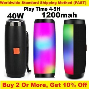 40W Waterproof Bluetooth Speaker Portable Wireless light Subwoofer & Power Bank