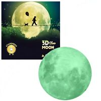 Glow in the Dark Big Moon - Perfect Gift, Wall Decal Stickers, Room decor